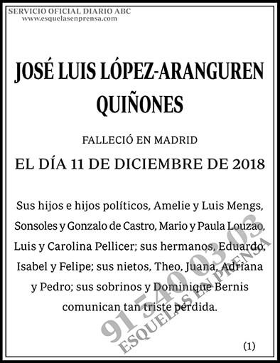 José Luis López-Aranguren Quiñones